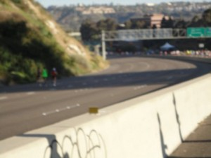 Lead runners (sorry for the blurry photo).