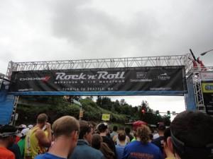 Race start line