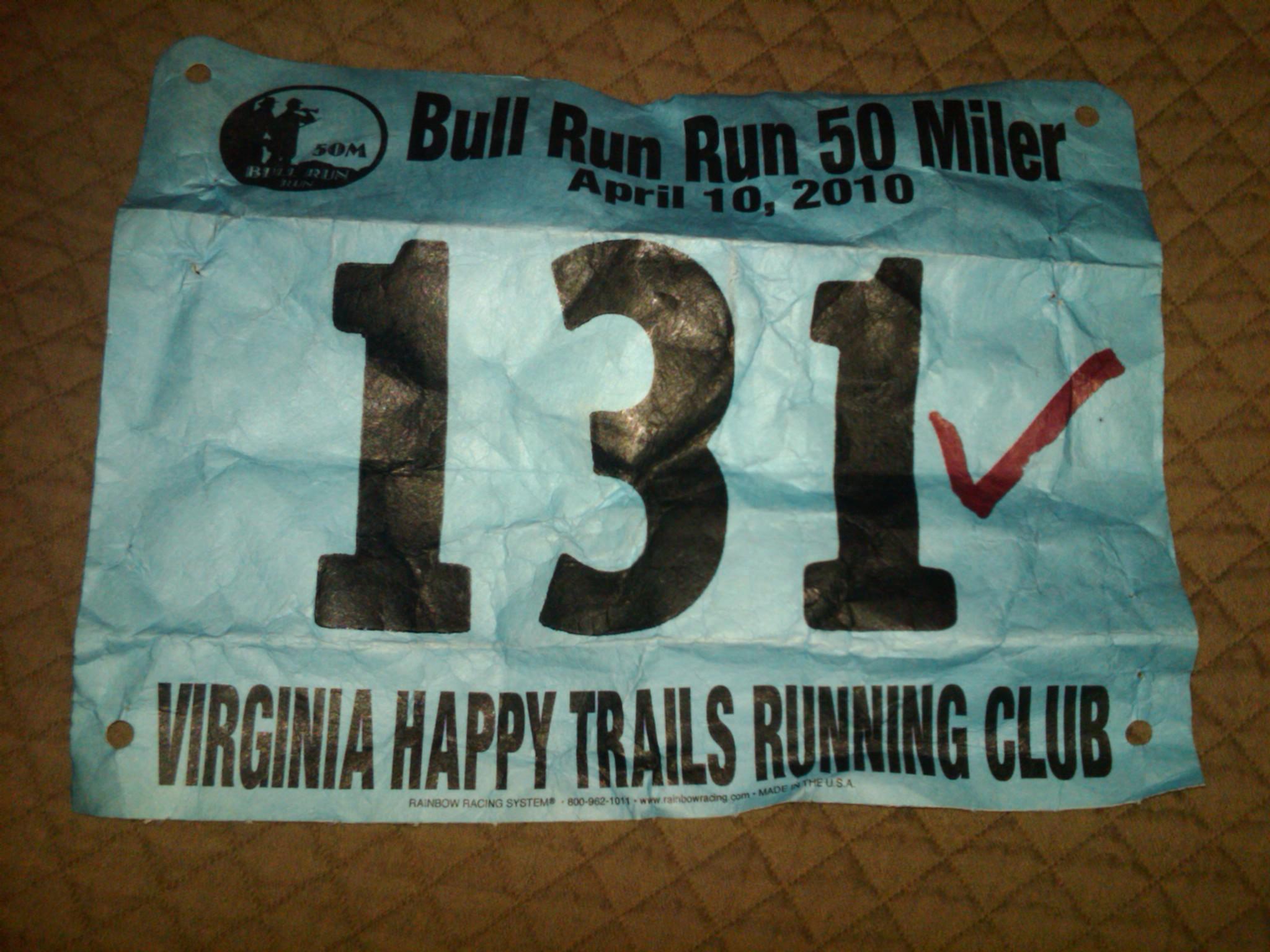 Bull Run Run 50 miler