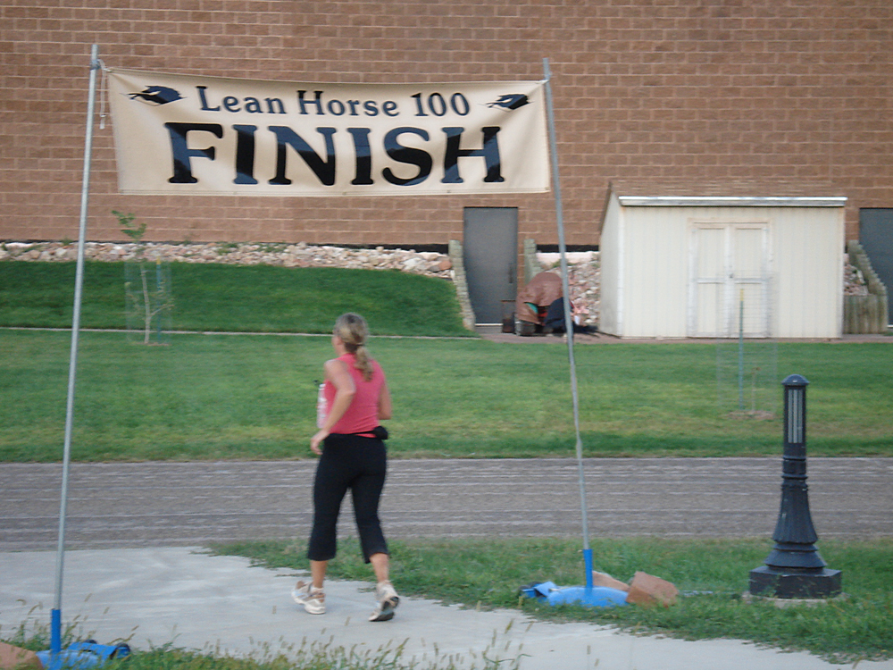 Finishing Lean Hose 100 Mile Ultramarathon on August 23, 2009 at 6:58 am. (24 hours, 58 minutes)
