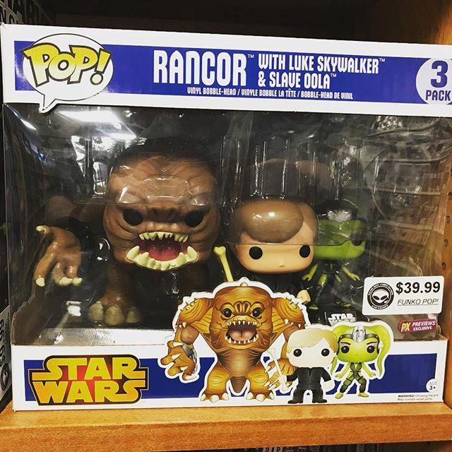 You can have your own rancor! Includes Luke and Oola too! #starwars #popvinyl #funko #funkopop #jabbaspalace #returnofthejedi