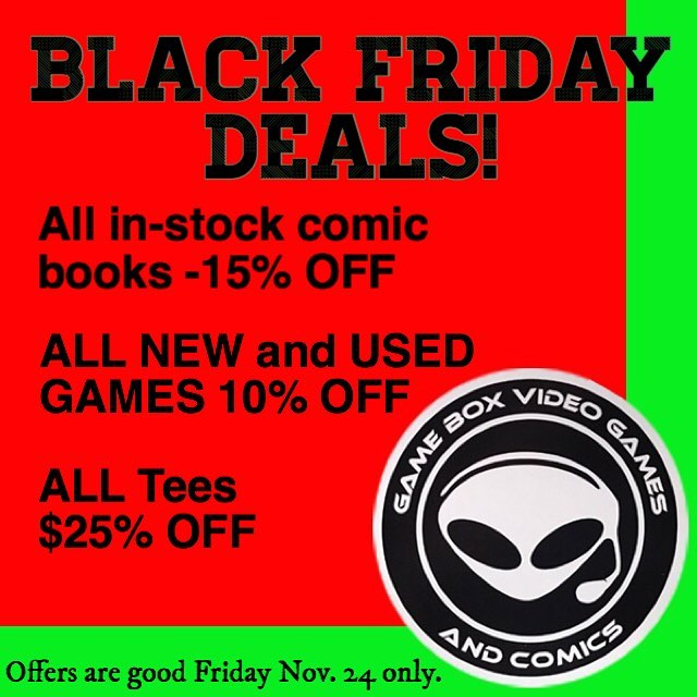 We open at 9 Friday! Come early for best selection! #gameboxvideogamesandcomics