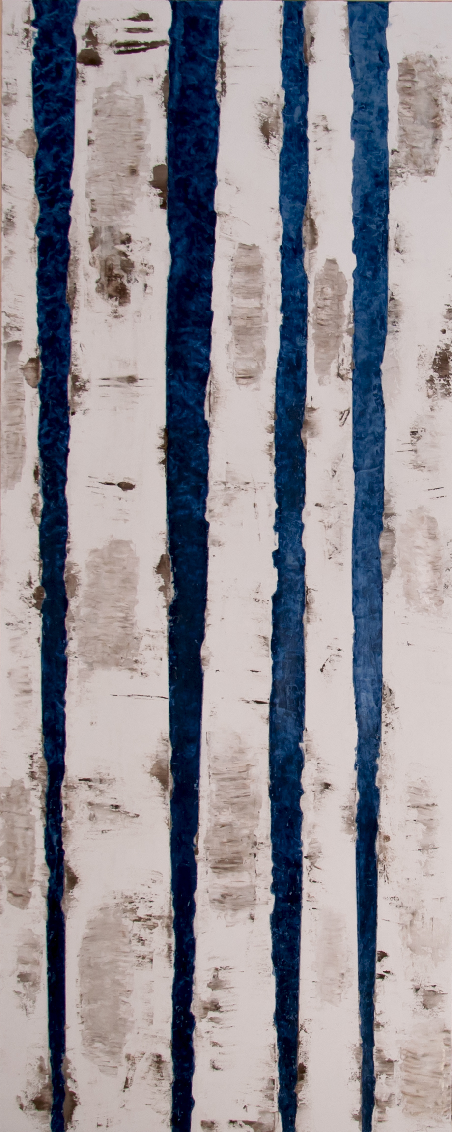 Birken in Blau