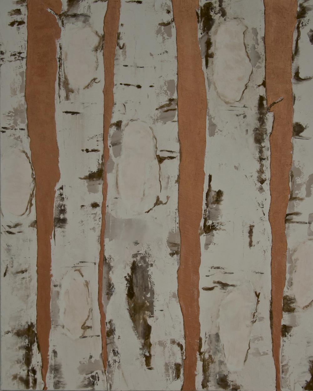 Birken in Kupfer