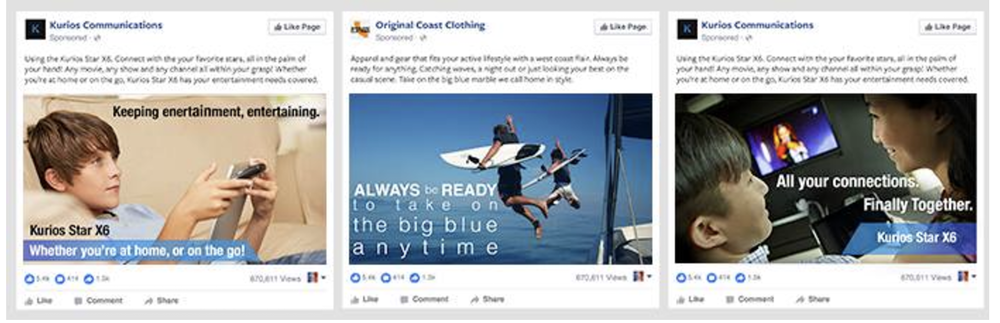 Example 1)Less amount of text  This advertisement is regarded as having adequate amount of text. Only part of text is included on the images of the advertisements.
