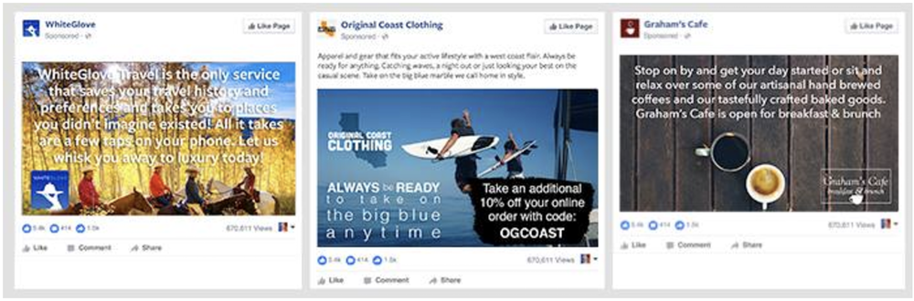 Example 3)Excessive amount of text  This advertisement is regarded as having too much text. Thus, it is likely that this advertisement will not be approved.