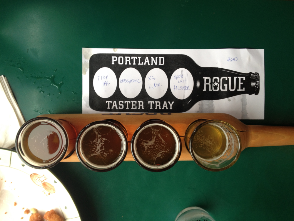 on the taster tray: a sour made with beard yeast... human beard yeast. yum!