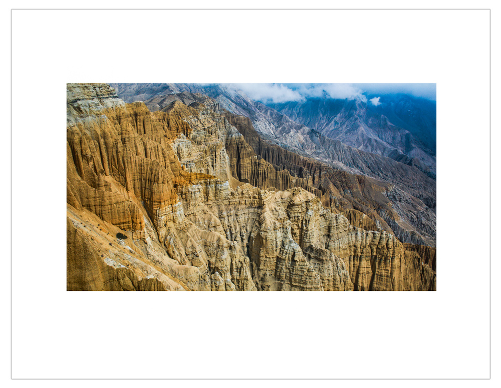 """Mustang eroded mountains"""