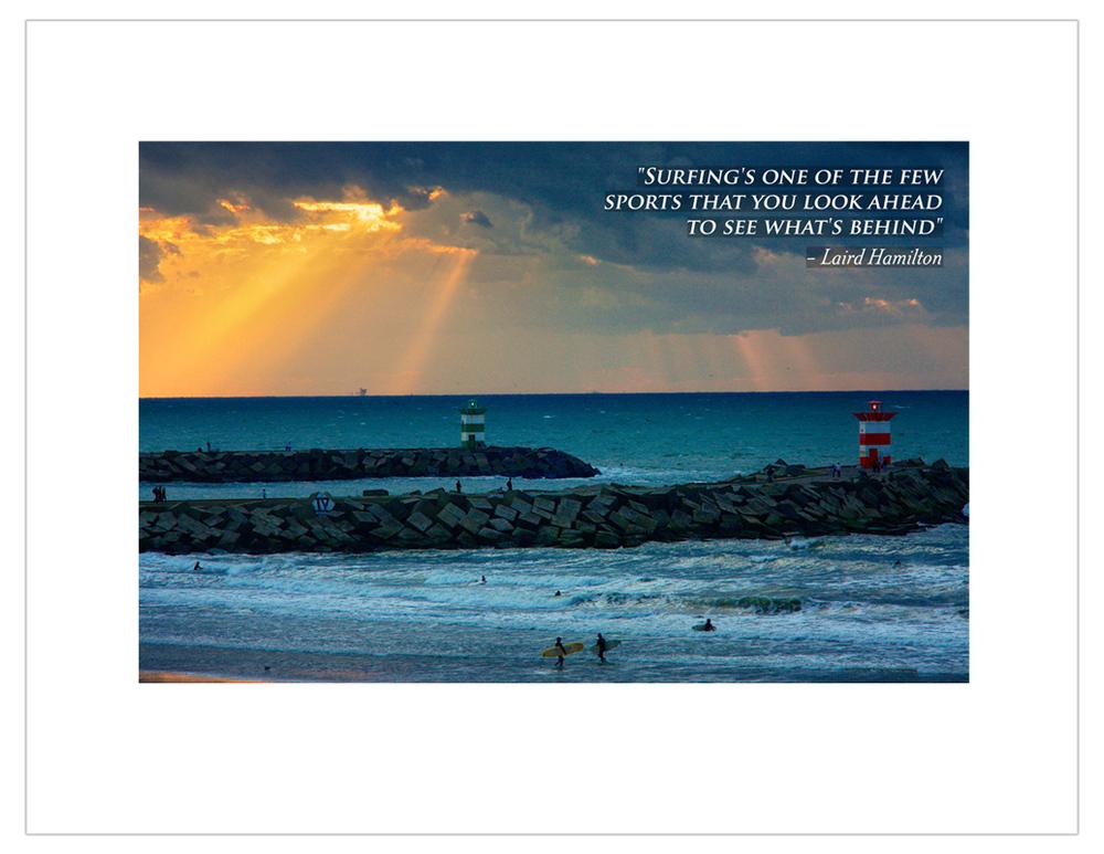 """Surfing till sunset"""
