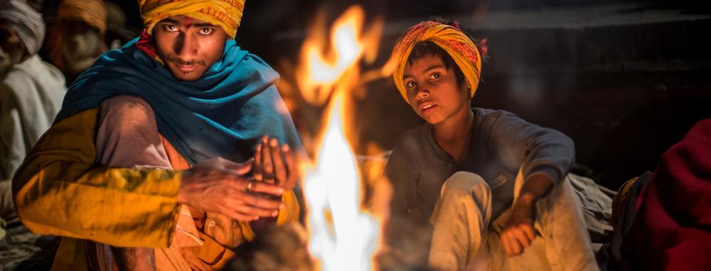 Hindus celebrating Maha Shivaratri at Pashupatinath, Kathmandu.