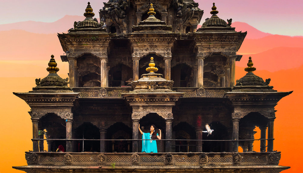 Before the Earth started Shaking One of the amazing Newari temples in the Kathmandu valley.  Combining the traditional architecture with the local cultural dress. Currently the at Patan situated temple is under reconstruction as it got badly damaged during the 2015 eearthquakes.