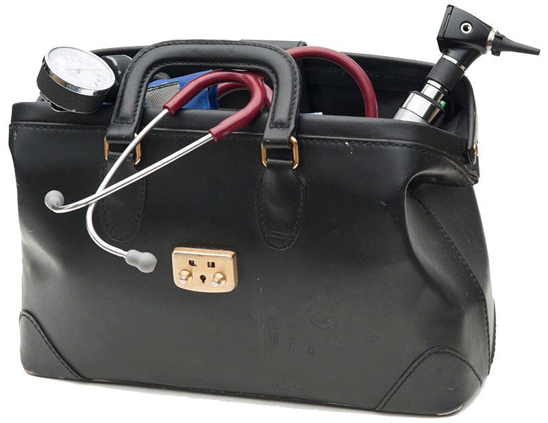 black doctor's bag