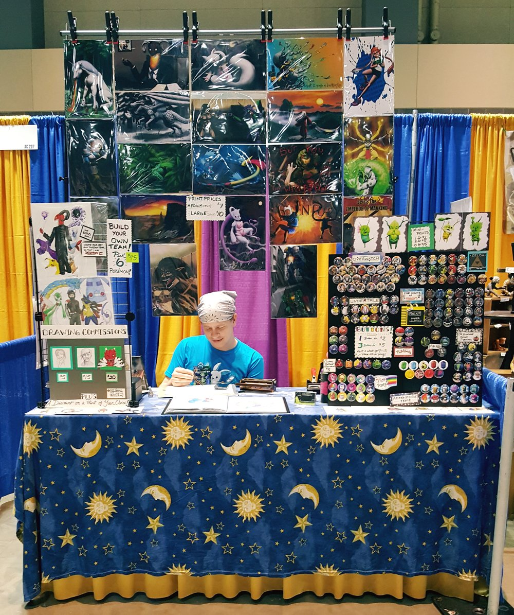 Falsemind Studios table at ConnectiCon 2017