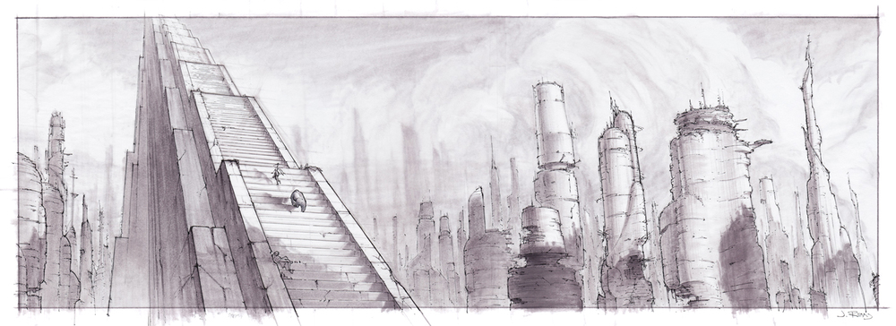 Little Sea Films Ltd_Jeremy Rumas Concept Art_The Great Stairway_Prismacolor Marker and Pen_www_littleseafilms_com.jpg