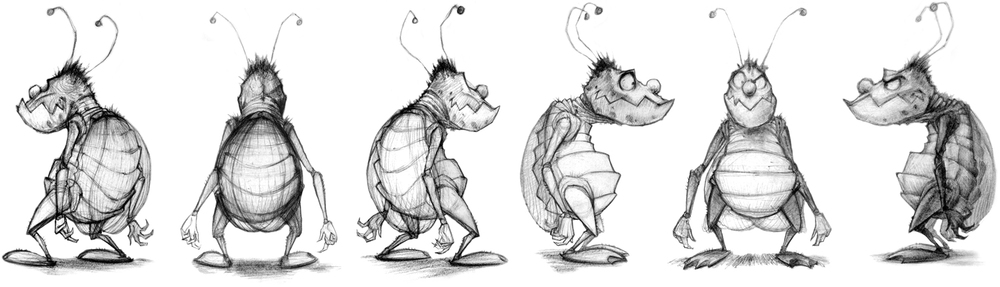 The Art of Jeremy Rumas_bug turnaround_character design_Jeremy Rumas drawings_www_jeremyrumas_com.jpg