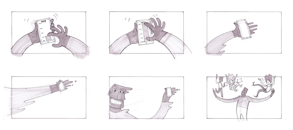Storyboards — Jeremy Rumas Artcommercial Storyboard. Advert