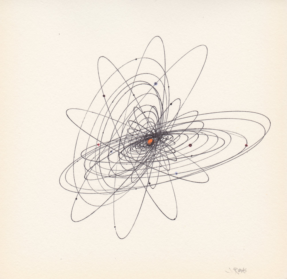 JEREMY RUMAS ART + PEN and MARKER SKETCHES _ ORBIT 03 + space + solar system + futurism + modern art +www.jeremyrumas.com.jpeg