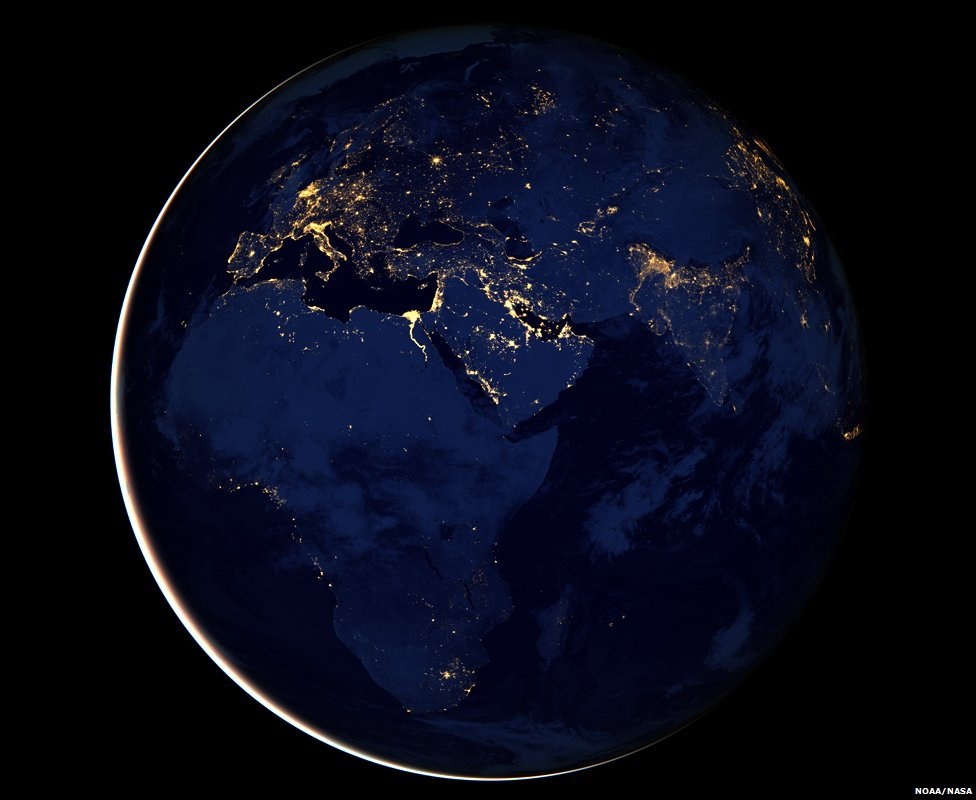 The Black Marble (NASA composite satellite image)