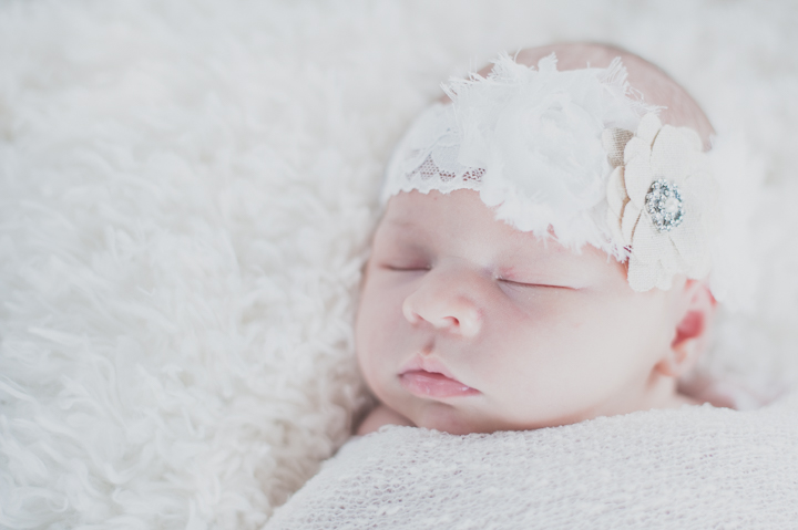Simple whites with lace and jewels, newborn photographer Camarillo