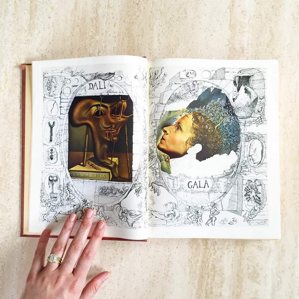 The Secret Life of Salvador Dali  is the artist's inventive autobiography, filled with wonderful drawings. I scored this first edition copy for my husband (a Surrealist fan) on his birthday. Yet I too share his love of Dali, whose home near Cadaques, Spain is one of my favorite spots in the world.