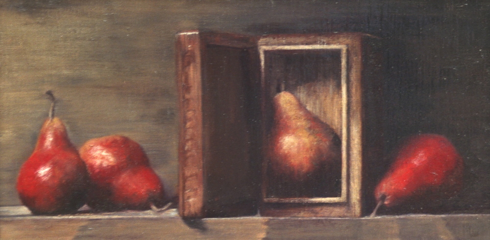 Three Pears and a Box