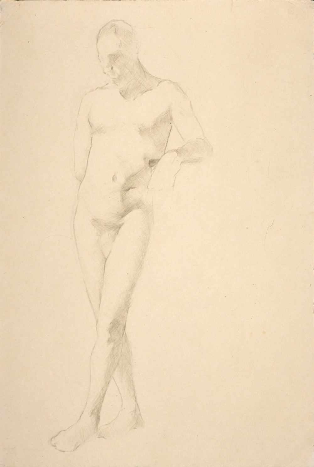 Male Nude, standing with leg crossed