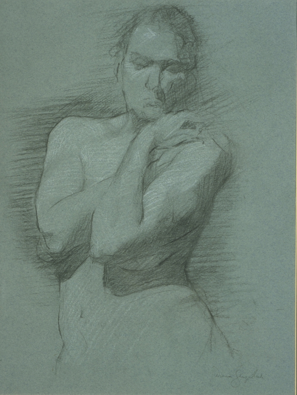 Female Nude, covered