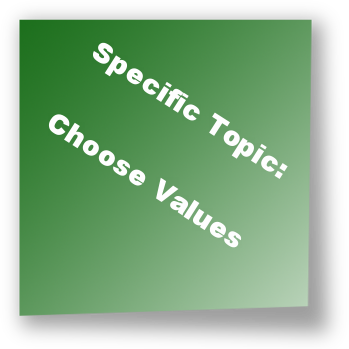 Specific Topic: Choose Values