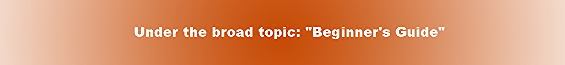 """Under the broad topic: """"Beginner's Guide"""""""