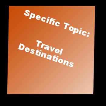 Specific Topic: Travel Destinations