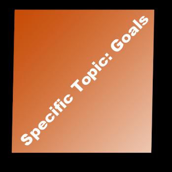 Specific Topic: Goals