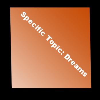 Specific Topic: Dreams