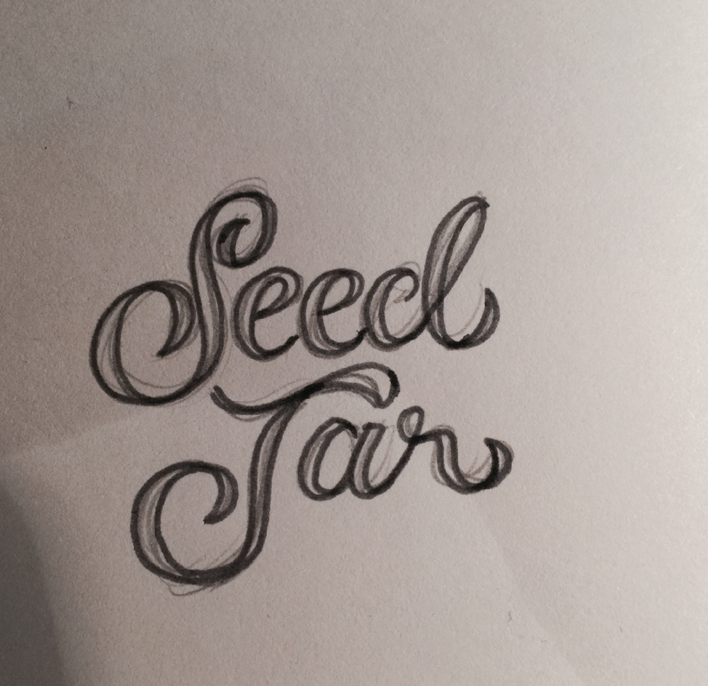 The first rough sketch the type logo came from.