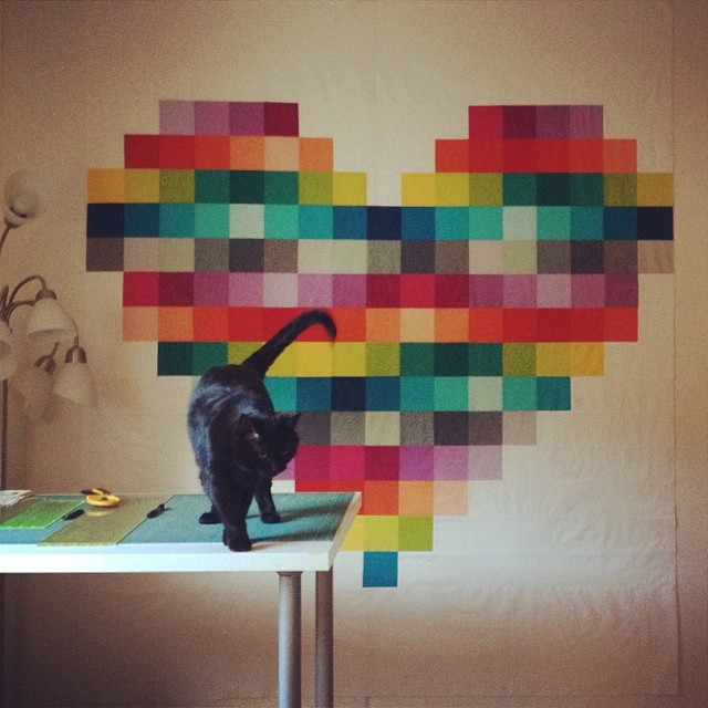 pixel_heart_quilt_on_the_design_wall