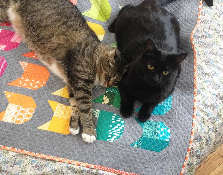 The Cat Mini Quilt Elizabeth Hartman Designs