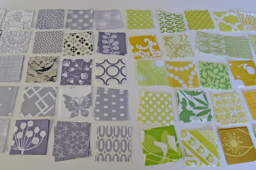 Cut squares for a Stamp Collection block. ohfransson.com