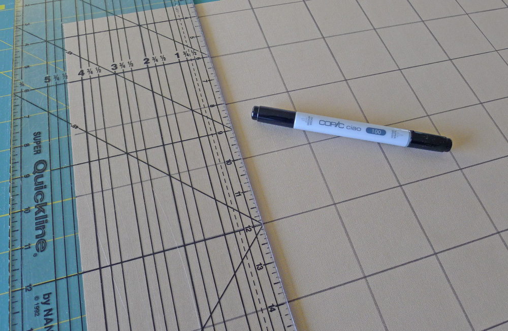 Making a muslin grid for a stamp collection block. ohfransson.com