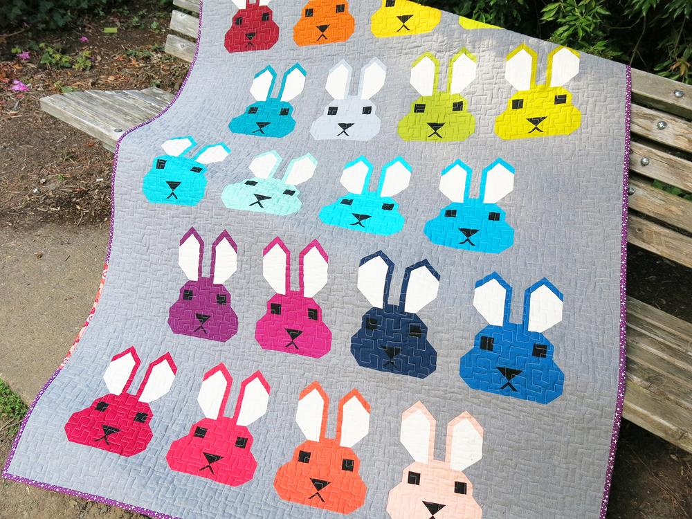 Bunny quilt by Elizabeth Hartman. ohfransson.com