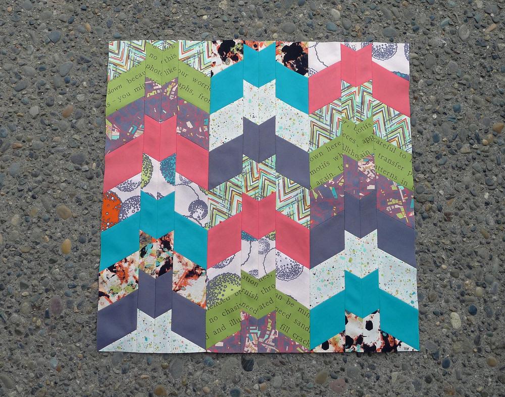 Barn Bats quilt block by Elizabeth Hartman. ohfransson.com