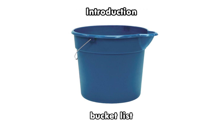 bucket list essay introduction