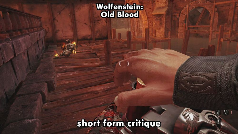 Wolfenstein: Old Blood reload sawed off shotgun