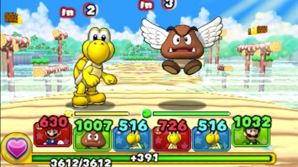 Puzzle & Dragons Z + Puzzle & Dragons Super Mario Bros. Edition for 3ds. Para Goomba and gold Koopa,