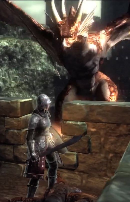 Demon's Souls red Dragon 1-2 bridge