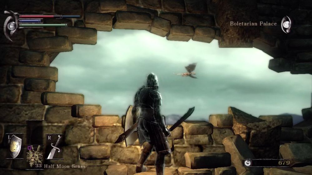 Demon's Souls Legend of Zelda bomb cracks 1-2 bridge dragon