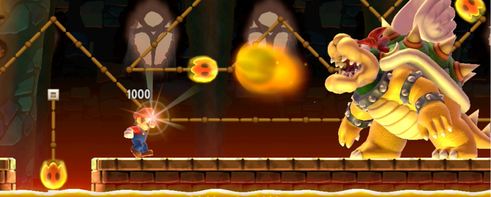 Super Mario Maker 100 Mario lives run New Super Mario Bros. U Mario vs. Bowser.