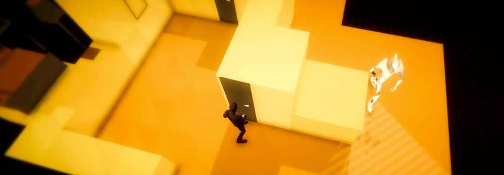 Volume game by Mike Bithell director of Thomas was alone. Orange level for steam, pc, and playstation 4.