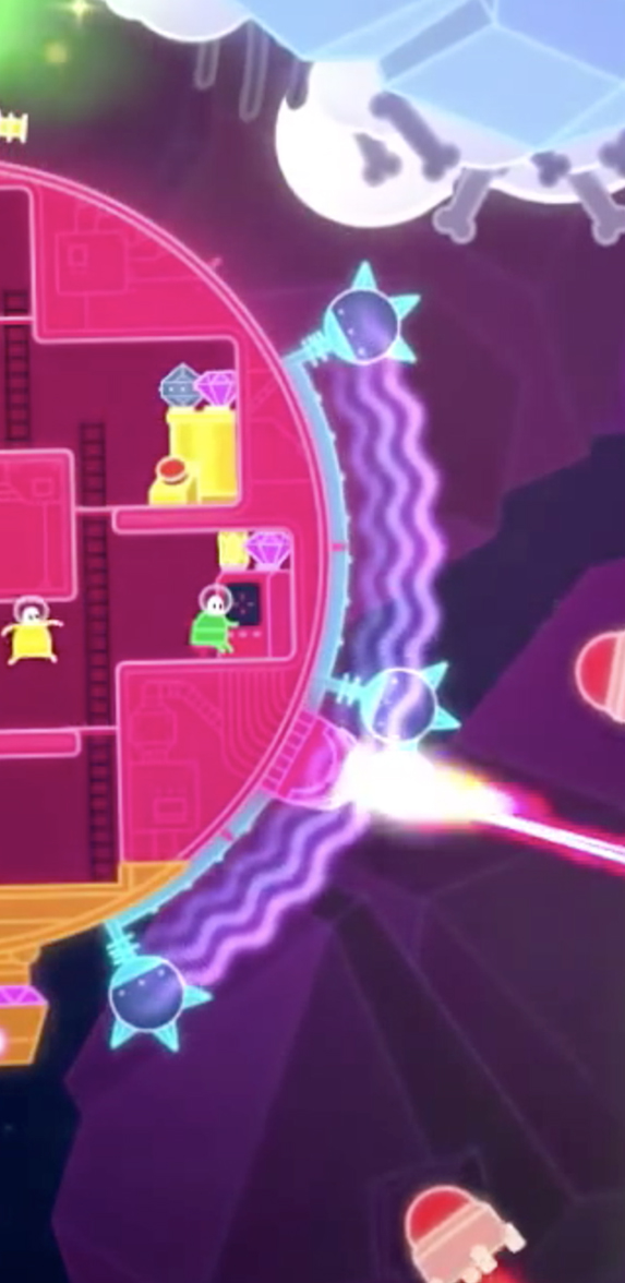 Lovers in a Dangerous Spacetime developed by Asteroid Base in Toronto, Ontario. Co-op procedurally generated exploration.