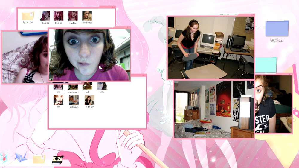 Cibele game desktop ui of selfies, by Nina Freeman
