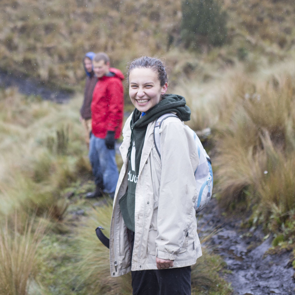 And then me (looking a bit like a drowned rat from our Cajas hike) (photocred to Aidan on this one)