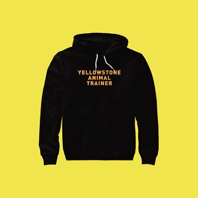 YELLOWSTONE ANIMAL TRAINER. We all know the animals at YNP are safe as heck. Now you can become part of the secret club of Yellowstone animal trainers. Do good work people. I'm so proud. Available on my website #yellowstonenationalpark #pettingzoo #feedtheanimals #jokes
